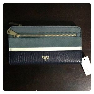 FOSSIL Preston Leather Clutch Wallet